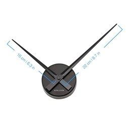 Настенные часы Karlsson Little Big Time Mini черные