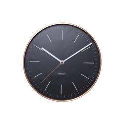 Настенные часы Karlsson Minimal черные