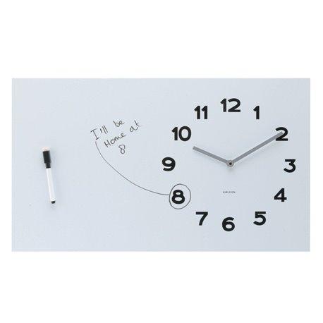 Настенные часы Karlsson Pure White Board