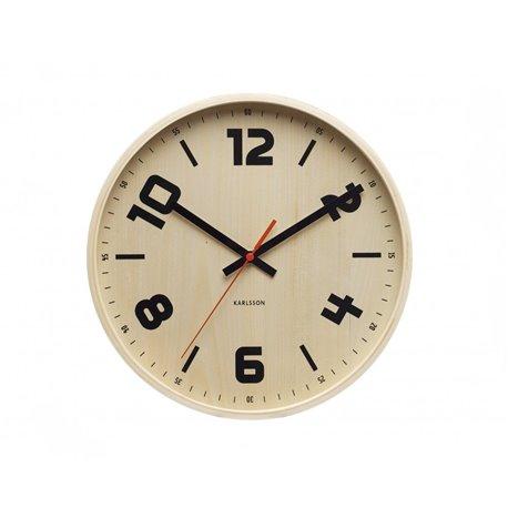 Настенные часы Karlsson Pure Wood с черными цифрами