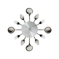 Часы для кухни Present Time Utinsels Silver
