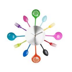 Часы для кухни Present Time Utinsels MultiColour