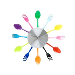 Часы для кухни Present Time Silverware Utensils