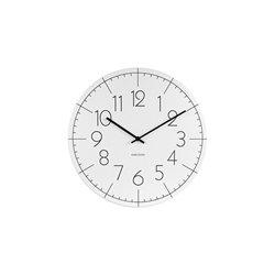 Настенные часы Karlsson Blade Numbers белые