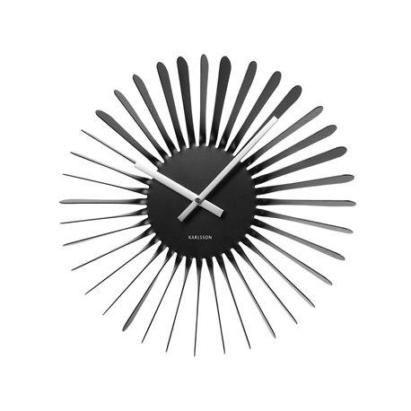 Настенные часы Karlsson Twister черные