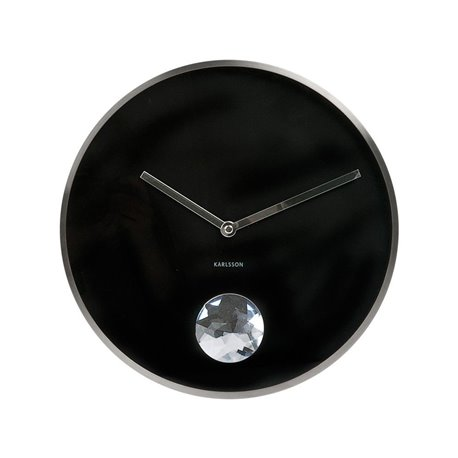 Настенные часы Karlsson Swinging Diamond черные