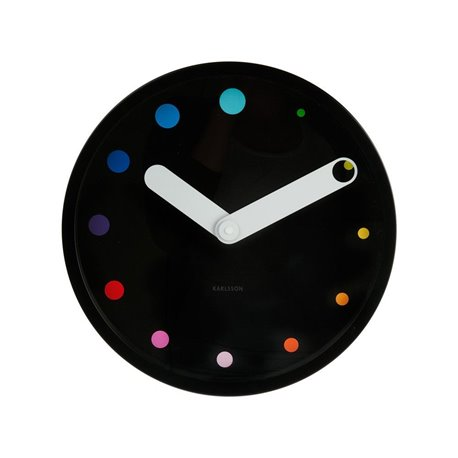 Настенные часы Karlsson Eclipse черные