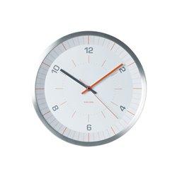 Бесшумные настенные часы Karlsson Bright Line оранжевые
