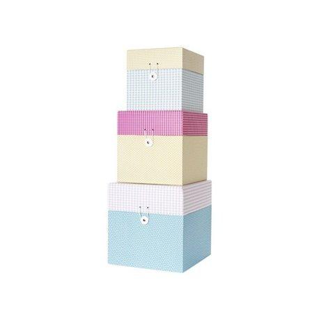Коробки для хранения Present Time Grid box colour