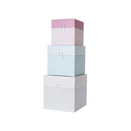 Коробки для хранения Present Time Grid box ton sur ton S