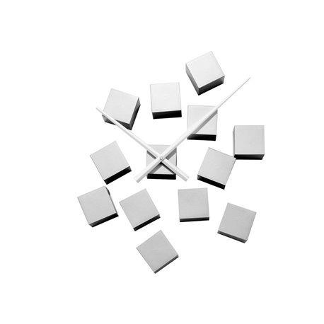 Настенные часы Karlsson DIY Cubic серебристые