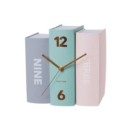 Настольные часы Karlsson Book пастельные