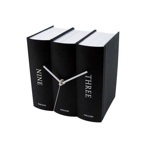 Настольные часы Karlsson Book черные