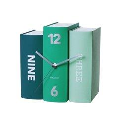 Настольные часы Karlsson Book изумрудные
