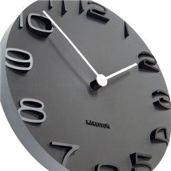 Настенные часы Karlsson On the Edge черные
