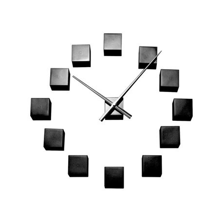 Настенные часы Karlsson DIY Cubic черные