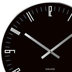 Настенные часы Karlsson Slim Index черные