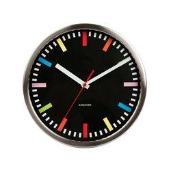 Настенные часы Karlsson Rainbow черные