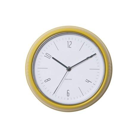 Настенные часы Karlsson Retro желтые