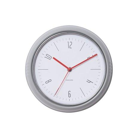 Настенные часы Karlsson Retro светло-серые