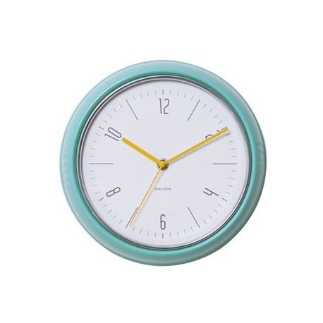 Настенные часы Karlsson Retro цвет морской волны