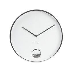 Настенные часы Karlsson Swinging Diamond белые