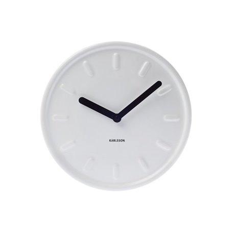 Бесшумные настенные часы Karlsson Ceramic station
