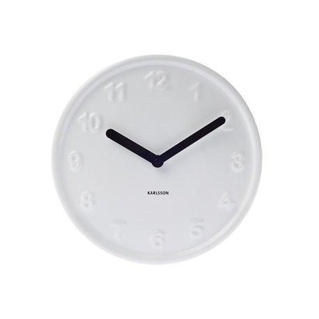 Бесшумные настенные часы Karlsson Ceramic numbers