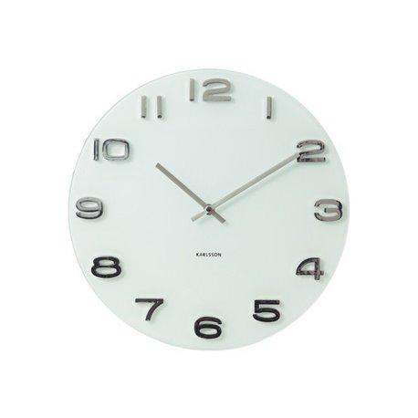 Настенные часы Karlsson Vintage белые