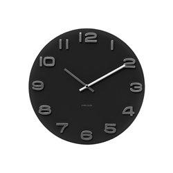 Настенные часы Karlsson Vintage черные