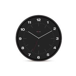Настенные часы Karlsson NeverLateAgain черные