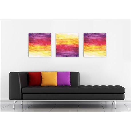 Картина на холсте «Абстракция желто-фиолетовый»