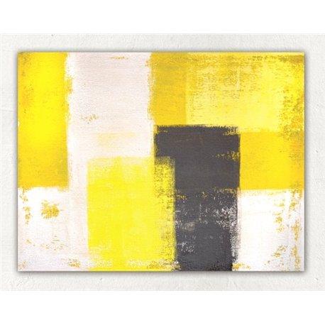 Картина на холсте «Абстракция желтый»