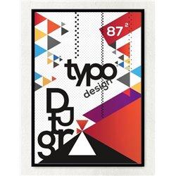 Постер в рамке «Type Design»