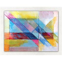 Картина на холсте «Абстракция розовый»