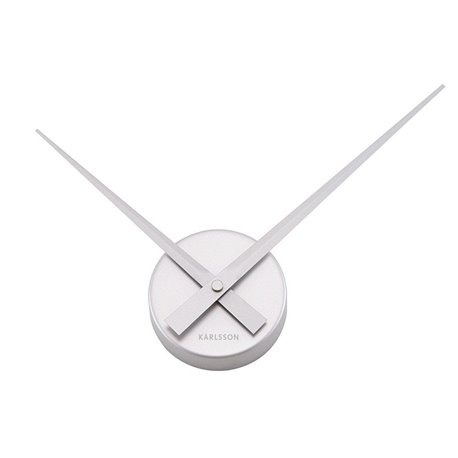 Настенные часы Karlsson Little Big Time Mini серебристые