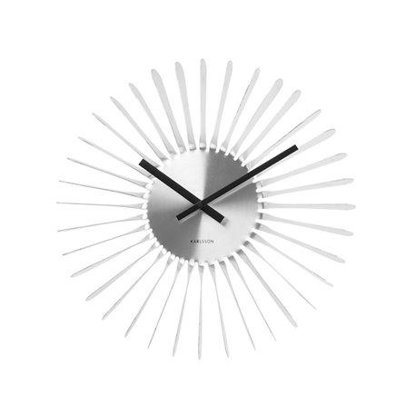 Настенные часы Karlsson Twister белые