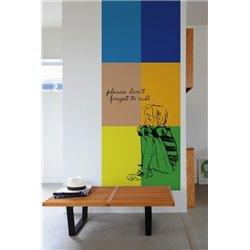 Наклейка на стену «Геометрия — маркер»