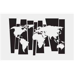 Интерьерная наклейка на стену Карта мира (линии)