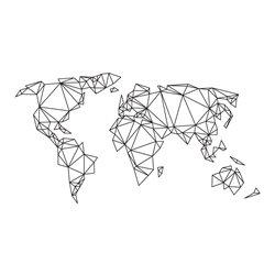 Интерьерная наклейка на стену Карта мира (абстракция)