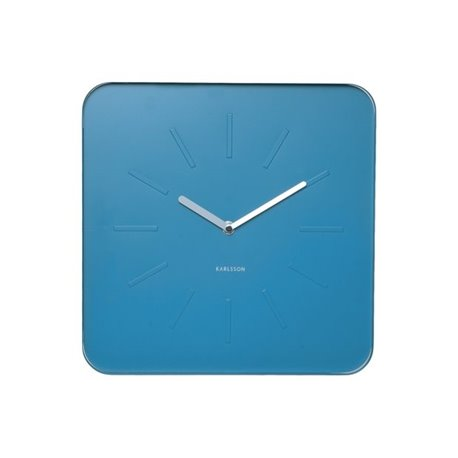 Настенные часы Karlsson Cube голубые