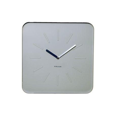 Настенные часы Karlsson Cube светло-серые