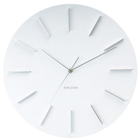 Настенные часы Karlsson Delicate Round белые
