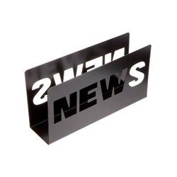 Газетница Present Time News черная