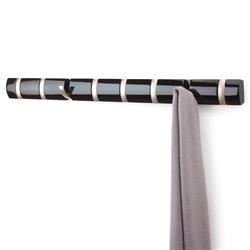 Настенная вешалка Umbra Flip 8 крючков черная