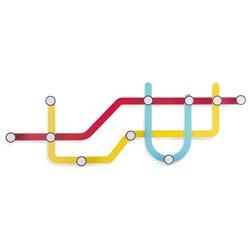 Вешалка Umbra Subway разноцветная