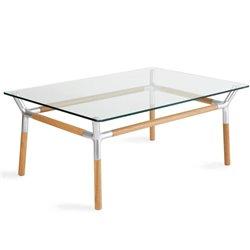 Стеклянный столик Umbra Konnect никель