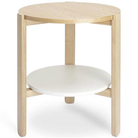 Журнальный столик из дерева Umbra Hub белый