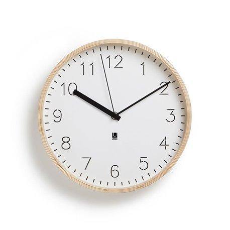 Настенные часы Umbra Rimwood белые