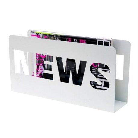 Газетница Present Time News белая